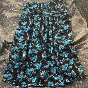 Strapless flower print Torrid dress